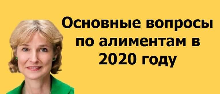 вопросы по алиментам в 2020 году